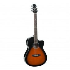 Ashton D10CEQ  Sun Burst 39, semi Acoustic Guitar